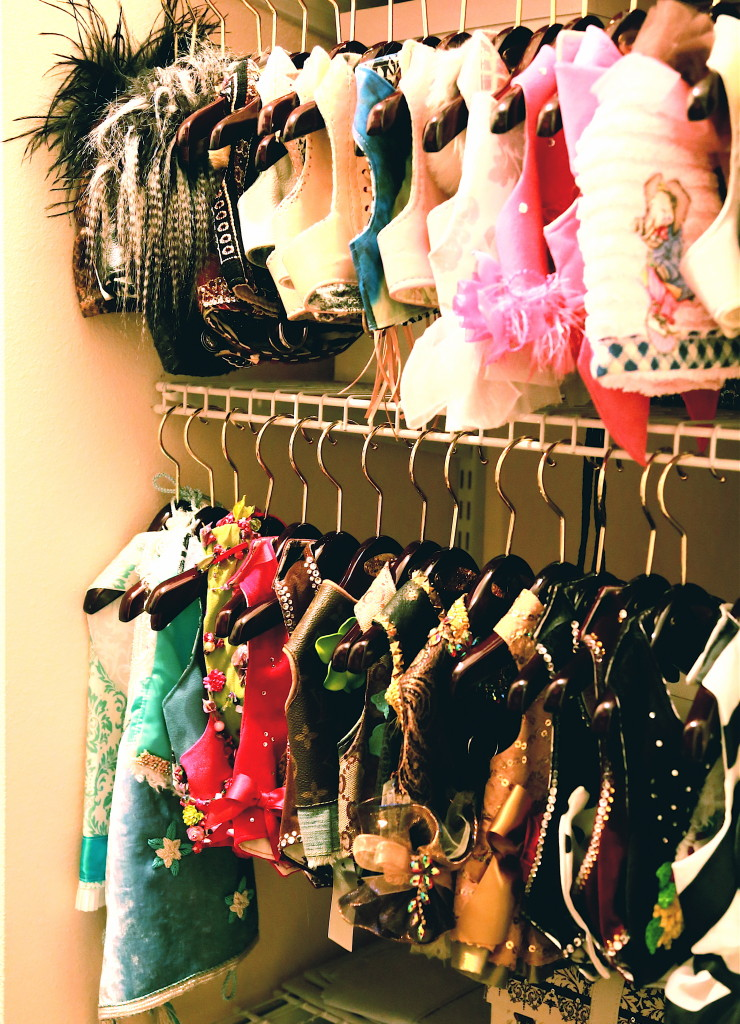 A small part of Sophia's custom closet