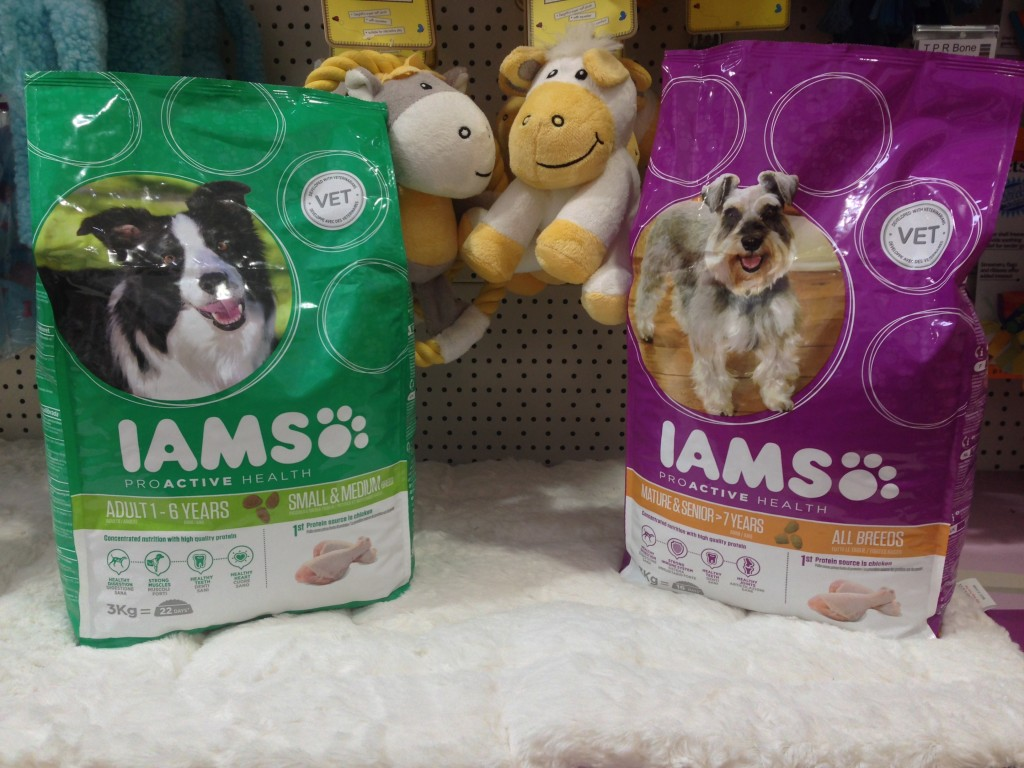 IAMS food is available for all dogs, shapes and sizes