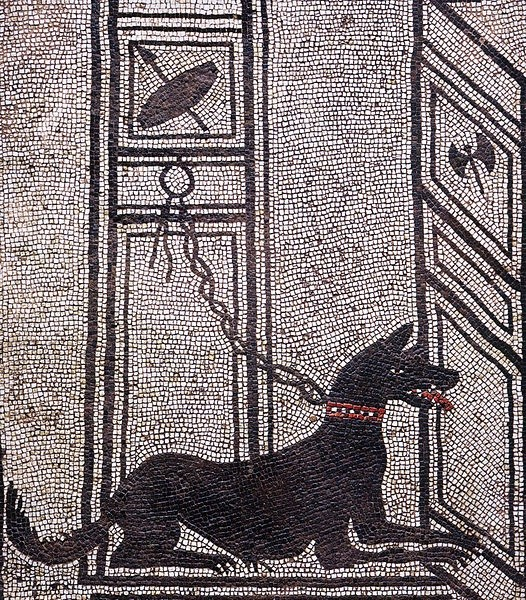 Mosaic of a city dog